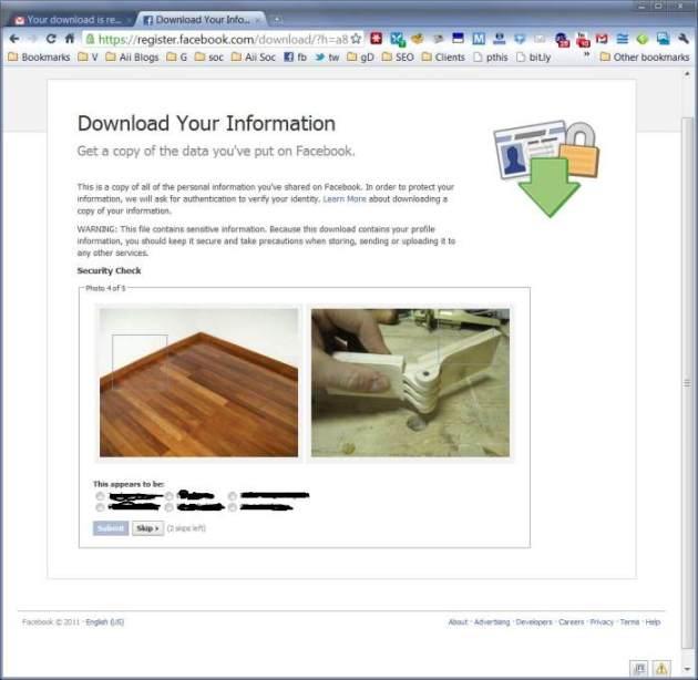 facebook account verification process photos