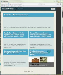 Apple iPad browser version of TEABROOKE
